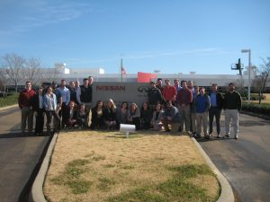 students at Nissan Plant